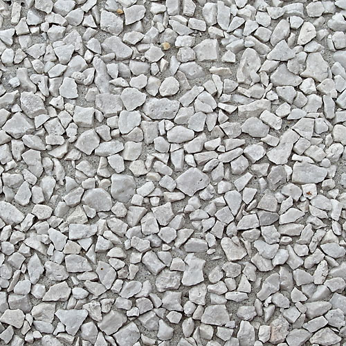 5.07 White crushed stone 4 - 8 mm, gray cement