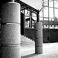 Poprad - Portico in front of the Bank building, 1996