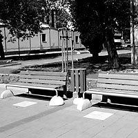 Snina - Reconstruction of the square, the benches, 2004