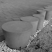 Bratislava - outdoor seating Bory Mall, 2014